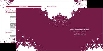 modele en ligne depliant 2 volets  4 pages  design abstrait artistique MIF22186