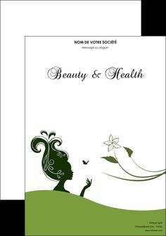 maquette en ligne a personnaliser affiche institut de beaute beaute coiffure soin MLGI22486