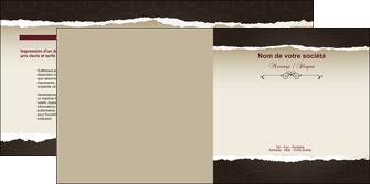 faire modele a imprimer depliant 2 volets  4 pages  texture contexture structure MIF22784