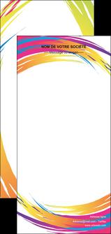 personnaliser maquette flyers abstrait design texture MLIG22848