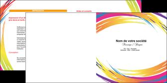creation graphique en ligne depliant 2 volets  4 pages  abstrait design texture MLIG22858