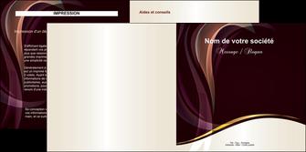 cree depliant 2 volets  4 pages  texture contexture abstrait MLIG23110
