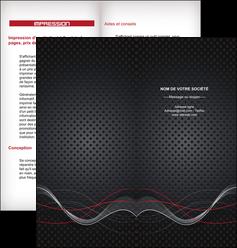 creation graphique en ligne depliant 2 volets  4 pages  contexture abstrait acier MIS23152