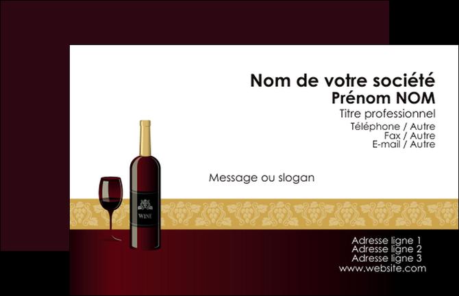 Modele En Ligne Carte De Visite Vin Commerce Et Producteur Vignoble Bouteille MLGI23264