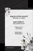 realiser carte de visite fleuriste et jardinage fleurs fleuriste jardin MLIP23432