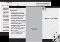 modele depliant 3 volets  6 pages  fleuriste et jardinage fleurs fleuriste jardin MLGI23436