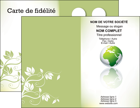 Imprimer Carte De Visite Paysage Nature Verte Ecologie MLGI23532