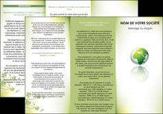 faire depliant 3 volets  6 pages  paysage nature nature verte ecologie MLGI23538