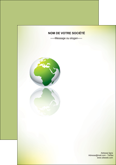 creation graphique en ligne flyers paysage nature nature verte ecologie MLGI23550