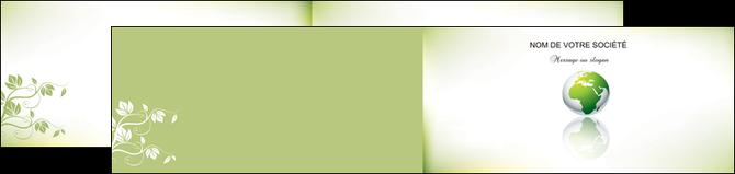 maquette en ligne a personnaliser depliant 2 volets  4 pages  paysage nature nature verte ecologie MLGI23552