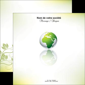 maquette en ligne a personnaliser flyers paysage nature nature verte ecologie MLGI23554