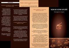 modele depliant 3 volets  6 pages  bar et cafe et pub cafe cafe noir cafe delices MLGI23588
