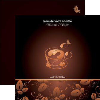 personnaliser maquette flyers bar et cafe et pub cafe cafe noir cafe delices MLGI23604