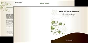 personnaliser modele de depliant 2 volets  4 pages  fleuriste et jardinage feuilles feuilles vertes nature MLGI23608