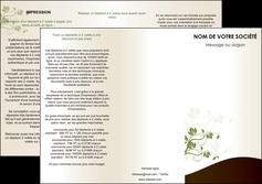 faire modele a imprimer depliant 3 volets  6 pages  fleuriste et jardinage feuilles feuilles vertes nature MLGI23610