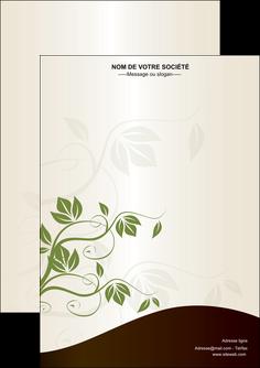 personnaliser maquette flyers fleuriste et jardinage feuilles feuilles vertes nature MLGI23612