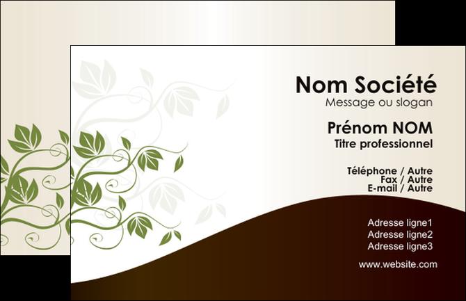 Imprimer Carte De Visite Fleuriste Et Jardinage Feuilles Vertes Nature MLGI23616