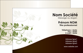 imprimer carte de visite fleuriste et jardinage feuilles feuilles vertes nature MLGI23616
