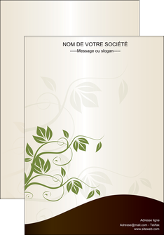 modele affiche fleuriste et jardinage feuilles feuilles vertes nature MLGI23622