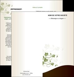 imprimerie depliant 2 volets  4 pages  fleuriste et jardinage feuilles feuilles vertes nature MLGI23624