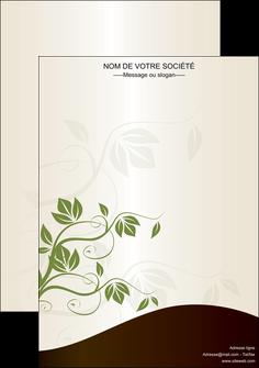 realiser affiche fleuriste et jardinage feuilles feuilles vertes nature MLGI23628