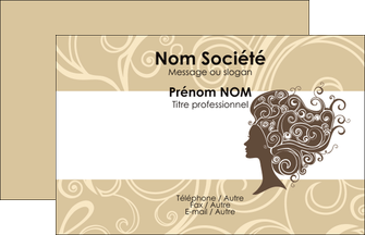 Impression Cartes de visite Salon de Coiffure devis d'imprimeur publicitaire professionnel Carte de Visite - Paysage