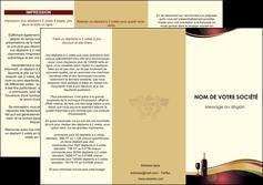 creer modele en ligne depliant 3 volets  6 pages  vin commerce et producteur vin vignoble bouteille de vin MLIG24286