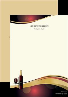 maquette en ligne a personnaliser affiche vin commerce et producteur vin vignoble bouteille de vin MLIG24290