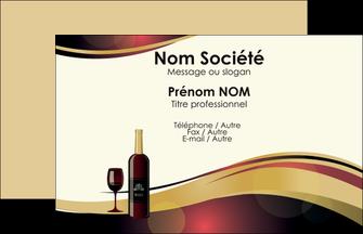 Creer Modele En Ligne Carte De Visite Vin Commerce Et Producteur Vignoble Bouteille