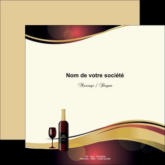 imprimer flyers vin commerce et producteur vin vignoble bouteille de vin MLIG24296