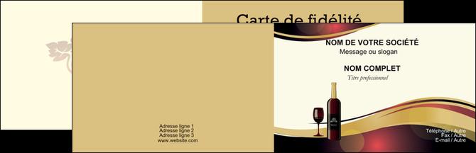 Realiser Carte De Visite Vin Commerce Et Producteur Vignoble Bouteille MLGI24306