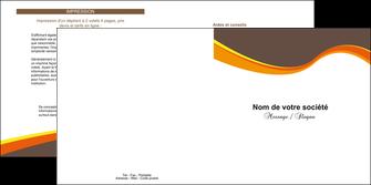 modele en ligne depliant 2 volets  4 pages  structure contexture design simple MLGI24610