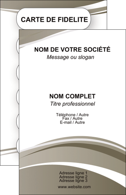 Personnaliser Modele De Carte Visite Structure Contexture Design Simple MLGI24804