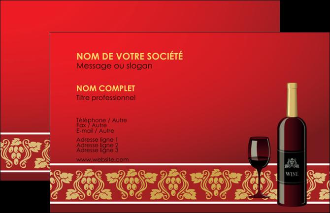 carte de visite mod u00e8le et exemple vin  vignoble  bouteille de vin