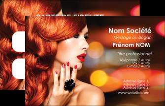 impression carte de visite centre esthetique  coiffure coiffeur coiffeuse MIF25276