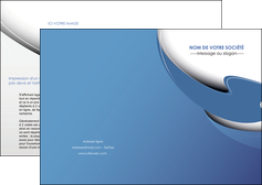 creer modele en ligne depliant 2 volets  4 pages  ure en  bleu pastel courbes fluides MIF25282