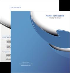 personnaliser modele de depliant 2 volets  4 pages  ure en  bleu pastel courbes fluides MIF25284
