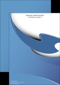 modele en ligne affiche ure en  bleu pastel courbes fluides MIF25286
