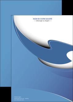 maquette en ligne a personnaliser affiche ure en  bleu pastel courbes fluides MIF25288