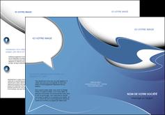 maquette en ligne a personnaliser depliant 3 volets  6 pages  ure en  bleu pastel courbes fluides MIF25290