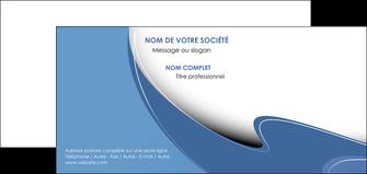 personnaliser modele de carte de correspondance ure en  bleu pastel courbes fluides MIF25296