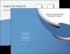 personnaliser maquette carte de visite ure en  bleu pastel courbes fluides MIF25300