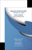 imprimer carte de visite ure en  bleu pastel courbes fluides MLGI25301