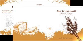personnaliser maquette depliant 2 volets  4 pages  boulangerie boulangerie boulange boulanger MLGI25336