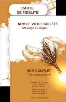 exemple carte de visite boulangerie boulangerie boulange boulanger MLGI25338