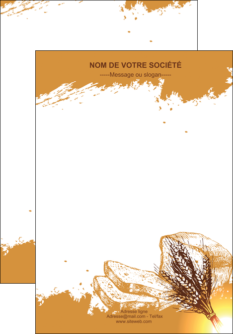 maquette en ligne a personnaliser affiche boulangerie boulangerie boulange boulanger MLGI25344