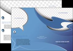 Impression impression depliants 2 plis  papier à prix discount et format Dépliant 6 pages Pli roulé DL - Portrait (10x21cm lorsque fermé)