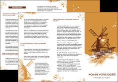 creer modele en ligne depliant 3 volets  6 pages  boulangerie boulangerie boulange boulanger MIF25394