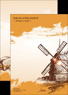 creation graphique en ligne affiche bar et cafe et pub boulangerie boulange boulanger MIF25414