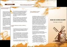 imprimer depliant 3 volets  6 pages  bar et cafe et pub boulangerie boulange boulanger MIF25426